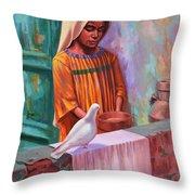 House Pigeon Throw Pillow