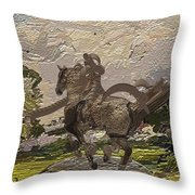 House Statue In The Field Throw Pillow