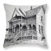 House Virginia City Montana Throw Pillow