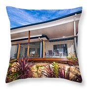 House With Deck Throw Pillow