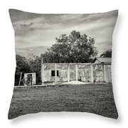 House With Outbuildings Throw Pillow