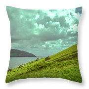 Houses And Ruins.  Throw Pillow