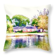 Houses By The Lake 1 Throw Pillow