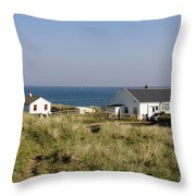 Houses In Low Hauxley. Throw Pillow
