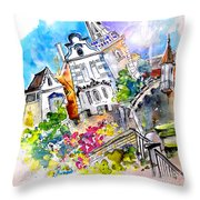 Houses In Ponte De Lima Throw Pillow