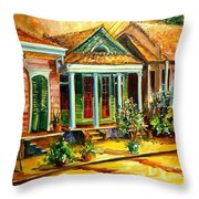 Houses In The Marigny Throw Pillow