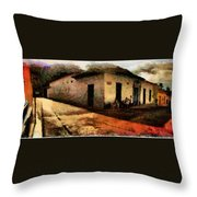 Houses Of Choroni Throw Pillow