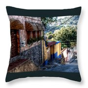 Houses Of Hatillo Throw Pillow