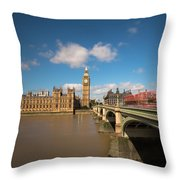 Houses Of Parliament And Westminster Bridge Throw Pillow
