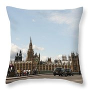 Houses Of Parliament.  Throw Pillow