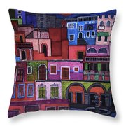 Houses Of San Miguel 2 Throw Pillow