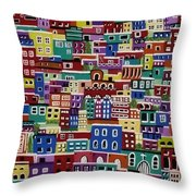 Houses On The Hill Throw Pillow