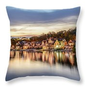 Houses On The Water Throw Pillow