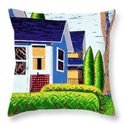Houses Remastered Throw Pillow