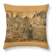 Houses Seen From The Back Window Of Sien's Mother's House  Throw Pillow