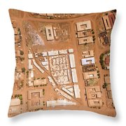 Houses With Central Courtyards Throw Pillow