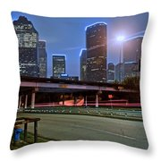 Houston Above Throw Pillow