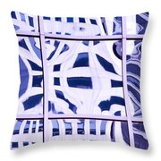 Houston Abstract Thinking Of Guadi Throw Pillow