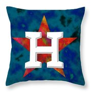Houston Astros Logo Throw Pillow