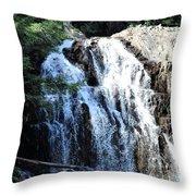 Houston Brook Falls Panorama Throw Pillow