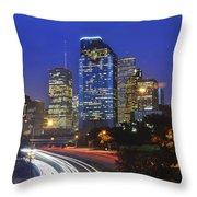 Houston City Life Throw Pillow