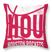 Houston Rockets City Poster Art Throw Pillow