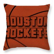 Houston Rockets Leather Art Throw Pillow