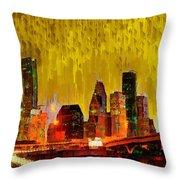 Houston Skyline 111 - Pa Throw Pillow