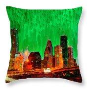 Houston Skyline 112 - Pa Throw Pillow