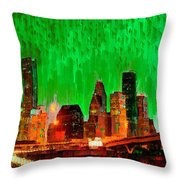 Houston Skyline 115 - Pa Throw Pillow