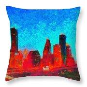 Houston Skyline 131 - Pa Throw Pillow