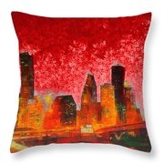 Houston Skyline 134 - Pa Throw Pillow