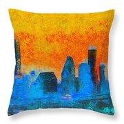 Houston Skyline 41 - Pa Throw Pillow