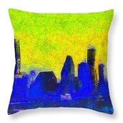 Houston Skyline 42 - Pa Throw Pillow