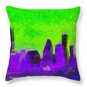 Houston Skyline 43 - Pa Throw Pillow