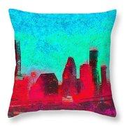 Houston Skyline 44 - Pa Throw Pillow