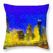 Houston Skyline 45 - Pa Throw Pillow