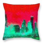 Houston Skyline 47 - Pa Throw Pillow