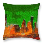 Houston Skyline 48 - Pa Throw Pillow