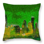 Houston Skyline 49 - Pa Throw Pillow