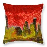 Houston Skyline 50 - Pa Throw Pillow