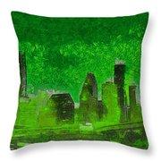 Houston Skyline 51 - Pa Throw Pillow