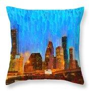 Houston Skyline 80 - Pa Throw Pillow