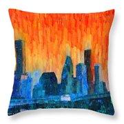 Houston Skyline 81 - Pa Throw Pillow