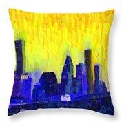 Houston Skyline 83 - Pa Throw Pillow