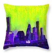Houston Skyline 84 - Pa Throw Pillow