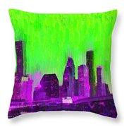 Houston Skyline 85 - Pa Throw Pillow
