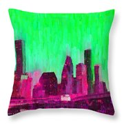 Houston Skyline 86 - Pa Throw Pillow