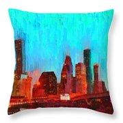 Houston Skyline 87 - Pa Throw Pillow