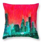 Houston Skyline 91 - Pa Throw Pillow